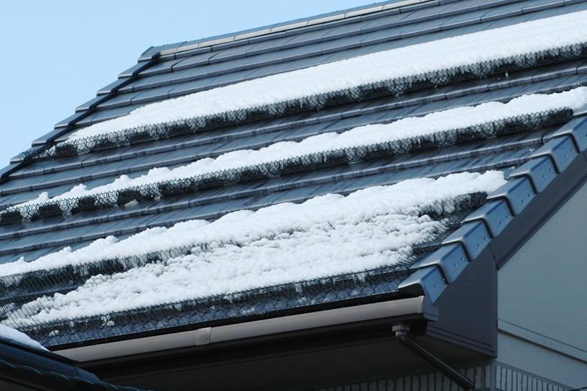 平板瓦に取付け【 応用 】降雪時/スーパーゆきもちくん+スーパーリング